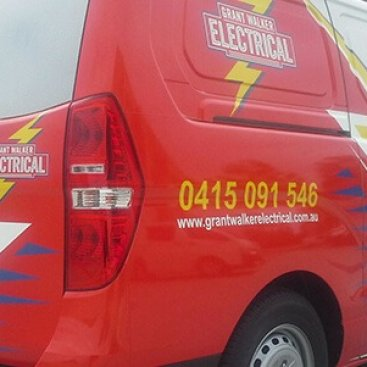 Grant Walker Electrical van