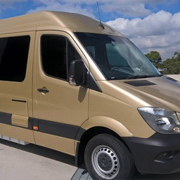 Gold Metallic Wrap for CampervansAustralia.com